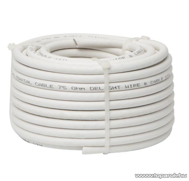 Delight Koax kábel, RG 6, 75 ohm, fehér, 15 m / tekercs (NX20035x15)