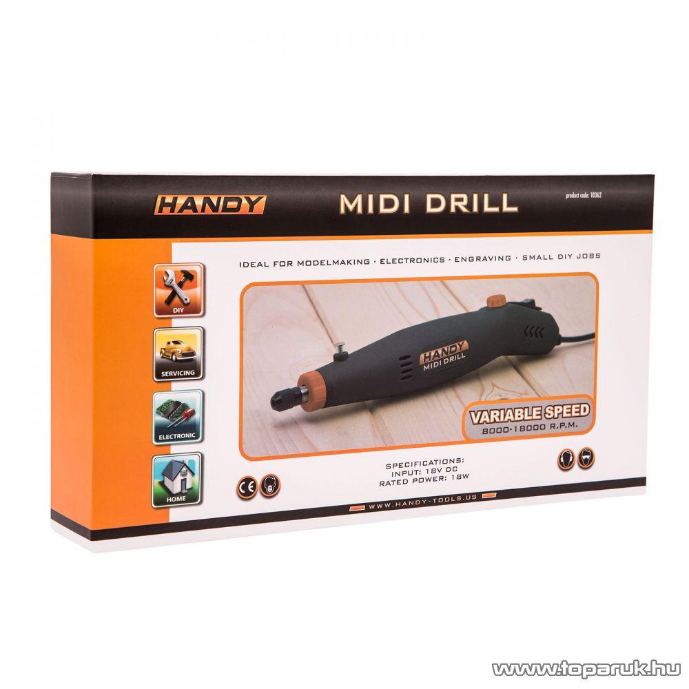 Handy Midi panelfúró 18W, 18V DC 8-18000 RPM/perc (10362)