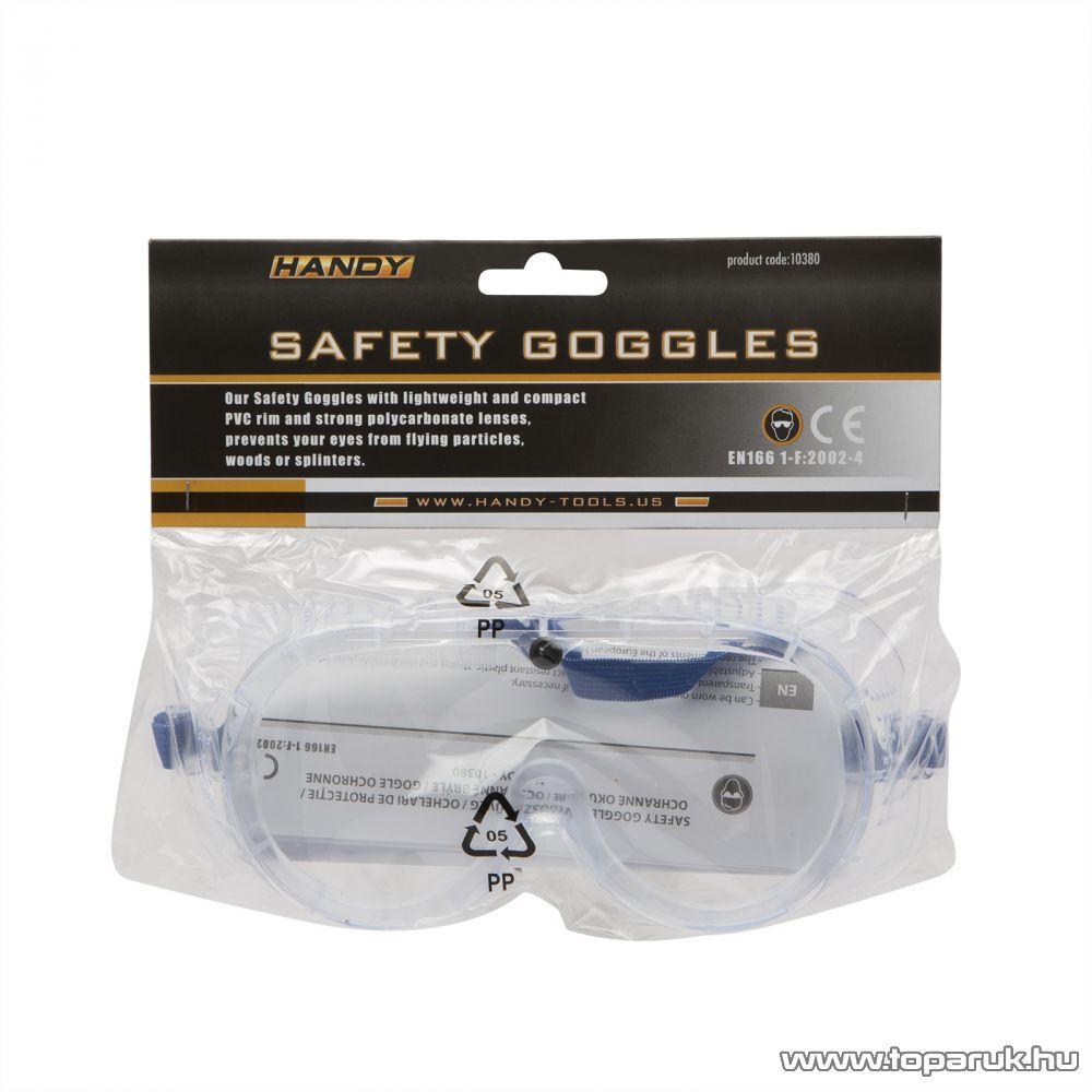 Handy Kompakt és könnyű PVC kerettel ellátott védőszemüveg (10380)