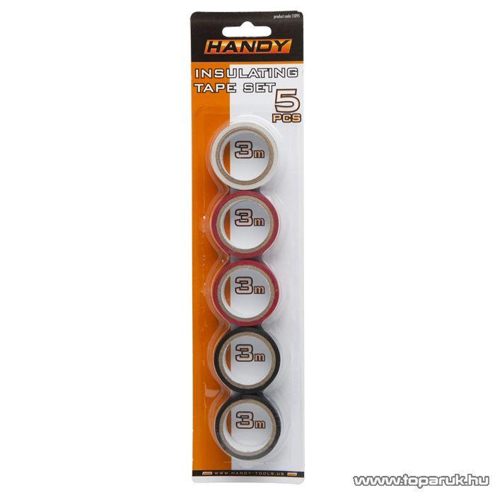 Handy Szigetelő szalag szett, 19 mm, 3 m hossz, 5 db / csomag (11095)