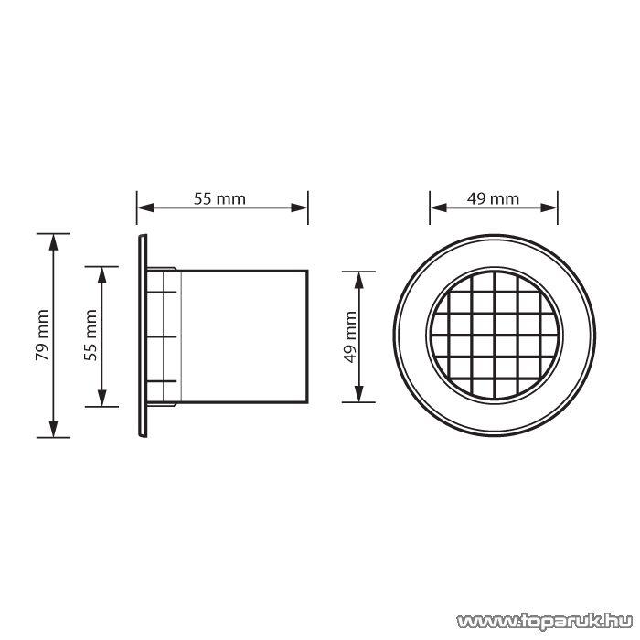 MNC Reflexcső, 55 mm átmérő (39206) - készlethiány