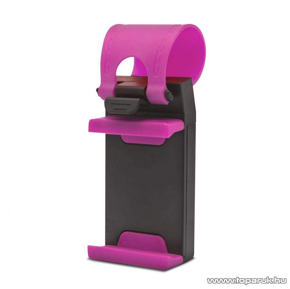 MNC Telefontartó kormányra, rózsaszín - pink (55018A)