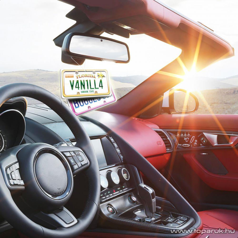 Autó illatosító (USA államok rendszámtábláját mintázó autóillatosító), Vanília