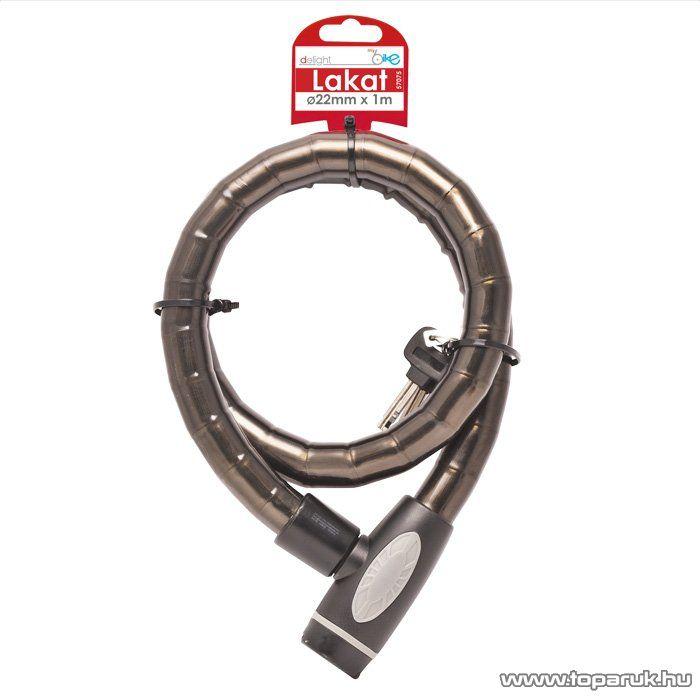 delight Extra erős, acél lakat bilincs járművekhez, kapukhoz, 22 mm / 1 m (57075) - készlethiány
