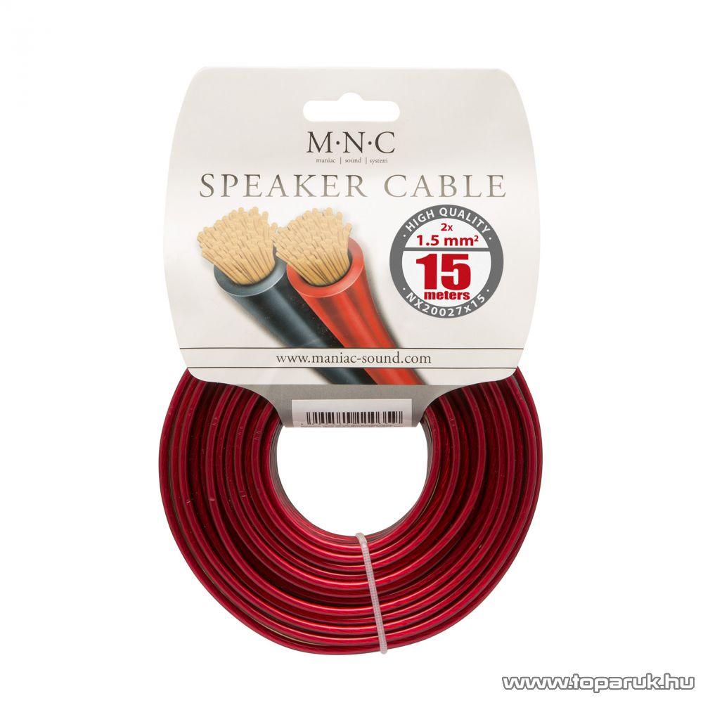 MNC Hangszórókábel 2 x 1,5 mm2, hosszúsága 15 m (NX20027x15)