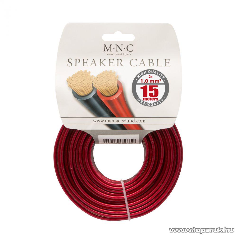 MNC Hangszórókábel 2 x 1,0 mm2, hosszúsága 15 m (NX20024x15)
