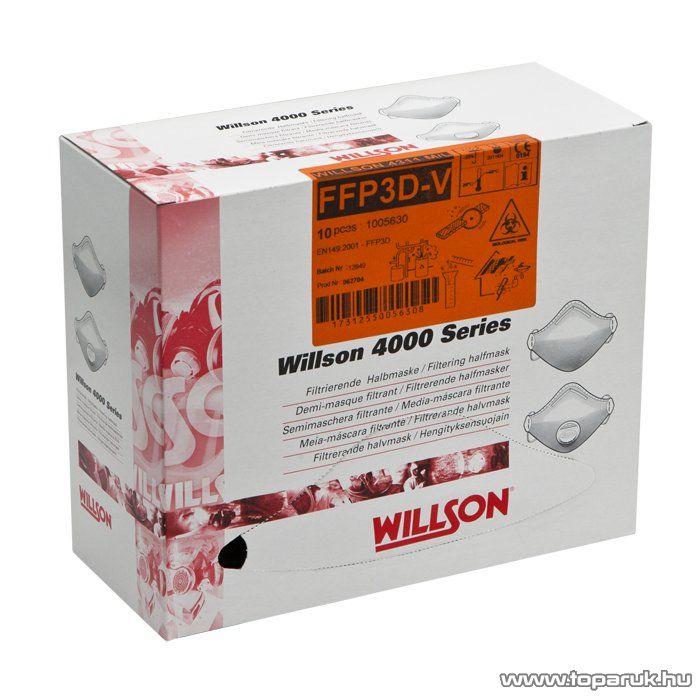 Willson 4000 Szelepes por maszk (szűrőfélálarc), 10 db / csomag (10836) - megszűnt termék: 20143. április