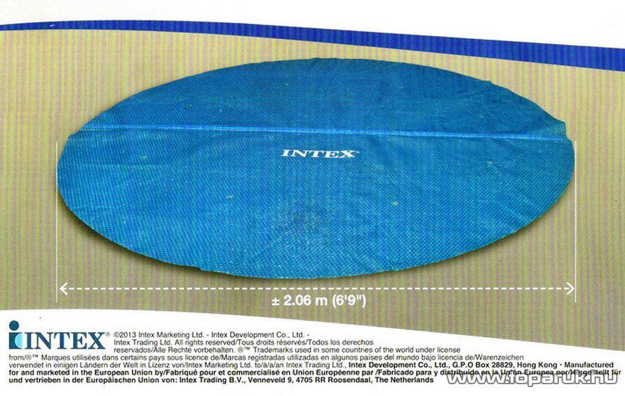 Intex Medence szolár védőtakaró, takaró fólia, 206 cm átmérőjű - készlethiány
