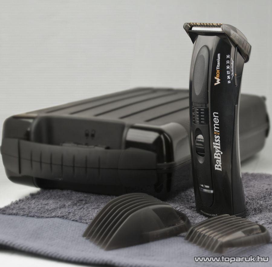 BaByliss E769E W-Tech Akkumulátoros haj- és szakállnyíró kofferben - Megszűnt termék: 2015. Október