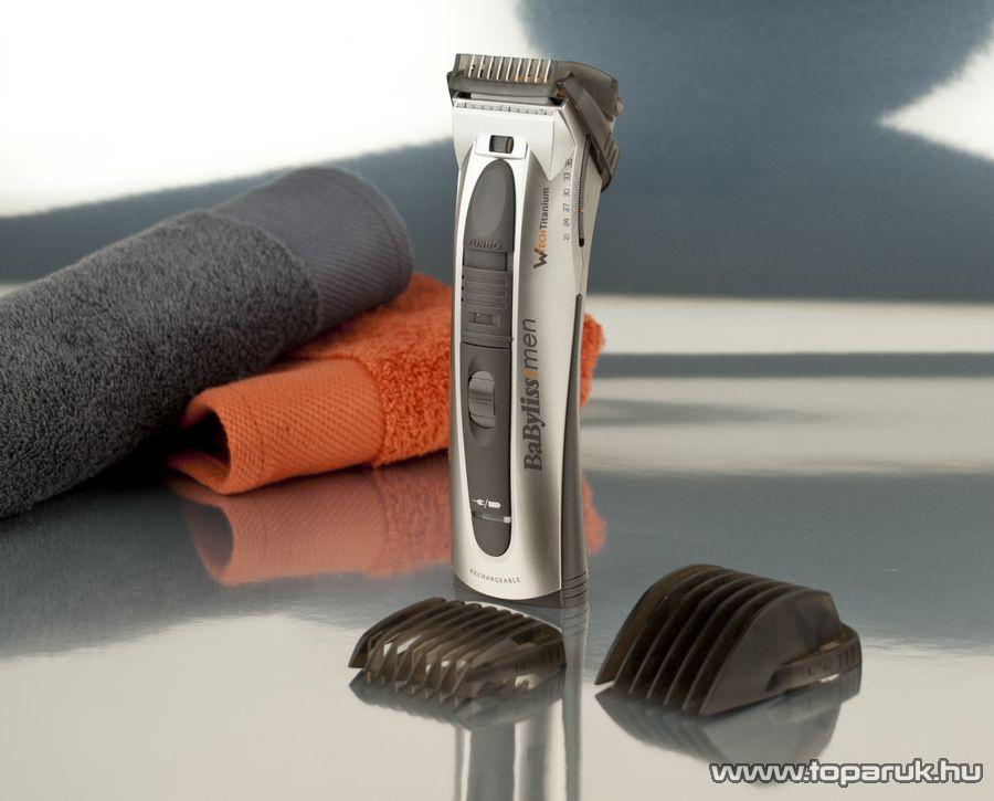 BaByliss E779E W-Tech Turbo akkumulátoros haj- és szakállnyíró kofferben