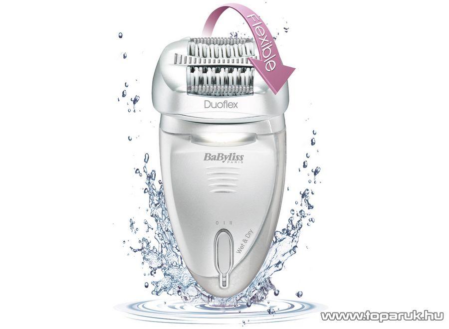 BaByliss G770E Duoflex 4 az 1-ben Wet&Dry epilátor flexibilis fejjel, 60 csipeszes