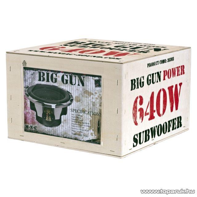 """MNC Big Gun Subwoofer 12""""/300 mm, 320/640 W-os, 4ohm-os mélysugárzó (35303) - megszűnt termék: 2014. december"""