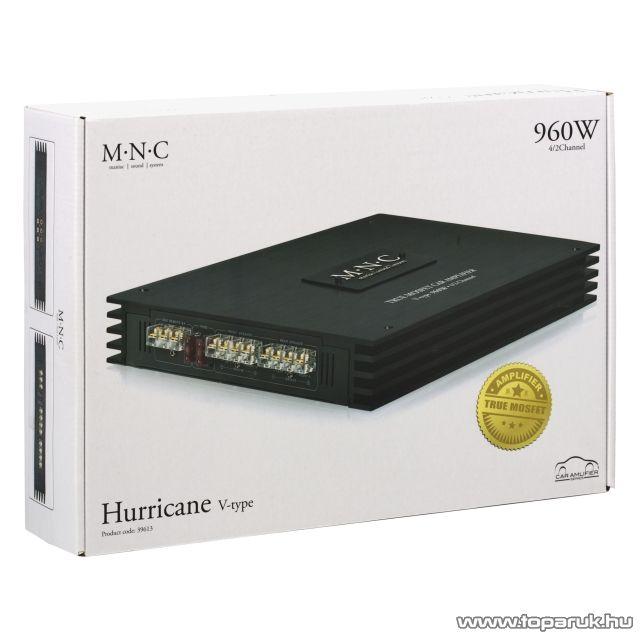 MNC Hurricane V-type 960 4/2 CH, 960W-os, 4 csatornás erősítő (39613)