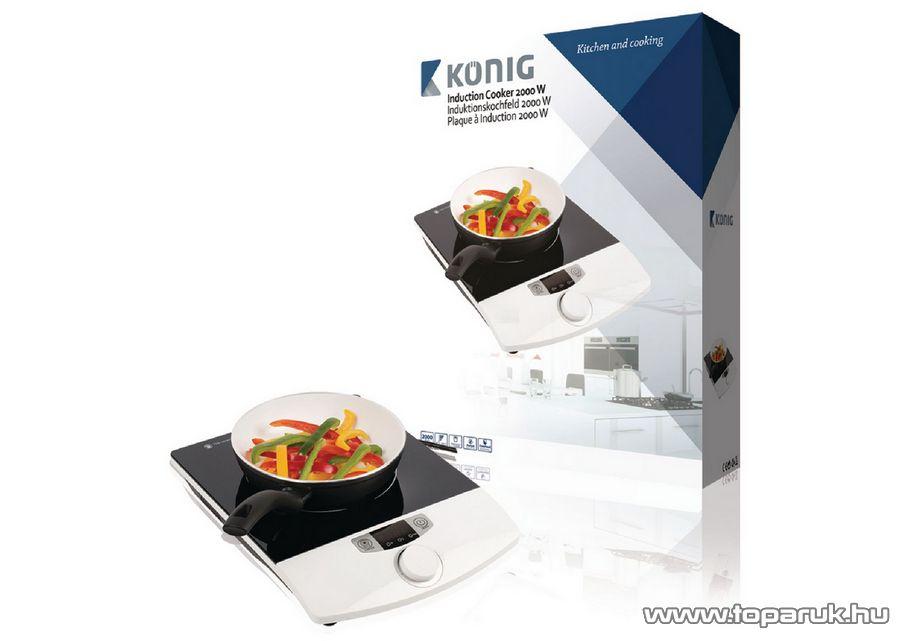 König HA-INDUC-10 egylapos indukciós főzőlap, 2000 W