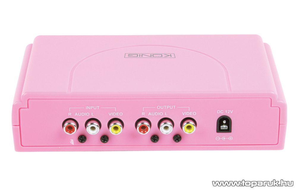 König HAV-KM11P rózsaszín (pink) karaoke keverő szett