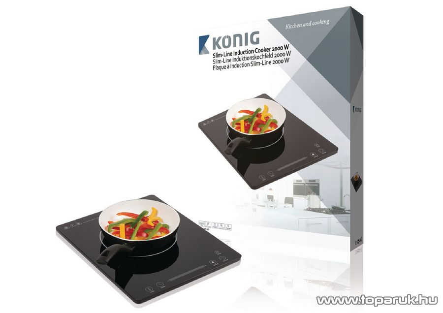 König KN-INDUC-20 egylapos indukciós főzőlap, 2000 W