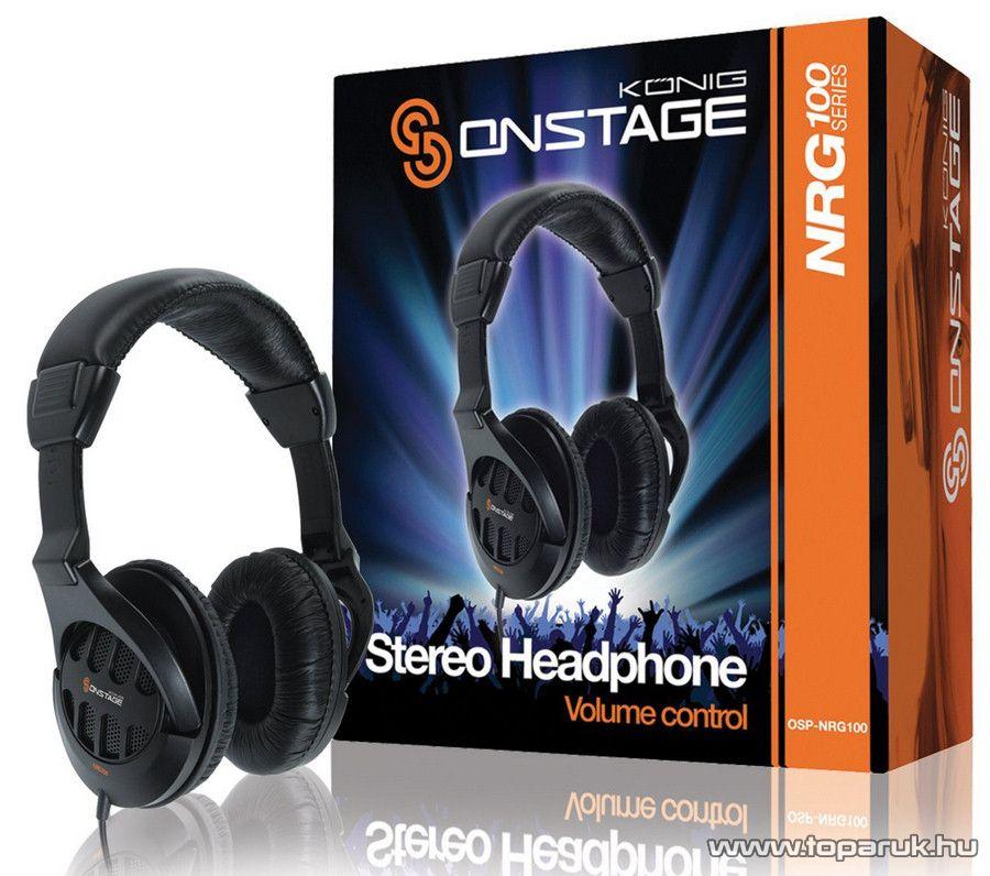 König Onstage OSP-NRG100 Multifunkcionális fejhallgató