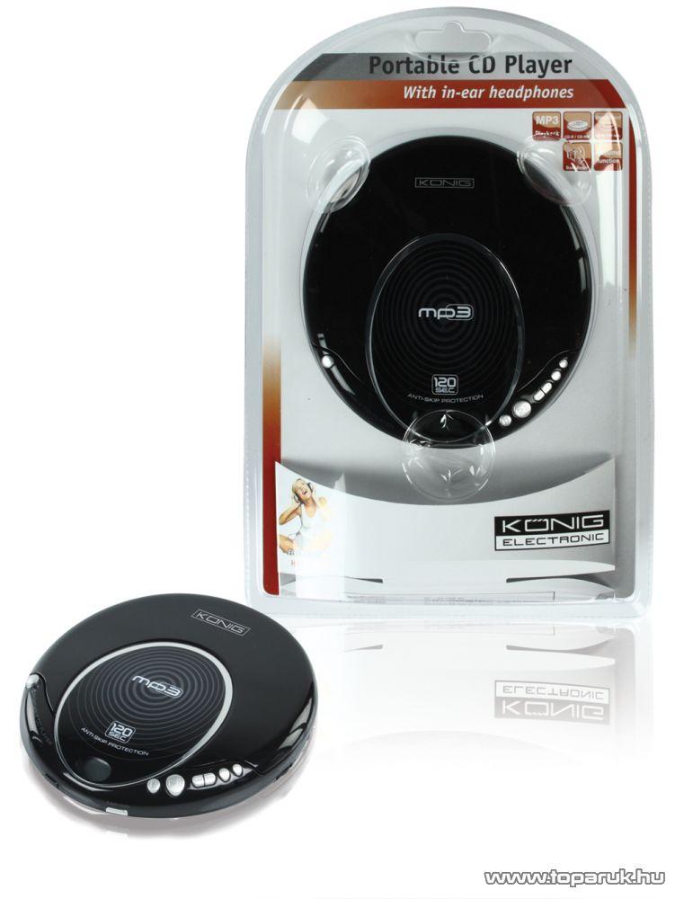 König HAV-DISC22 Hordozható CD lejátszó, MP3 Discman - készlethiány