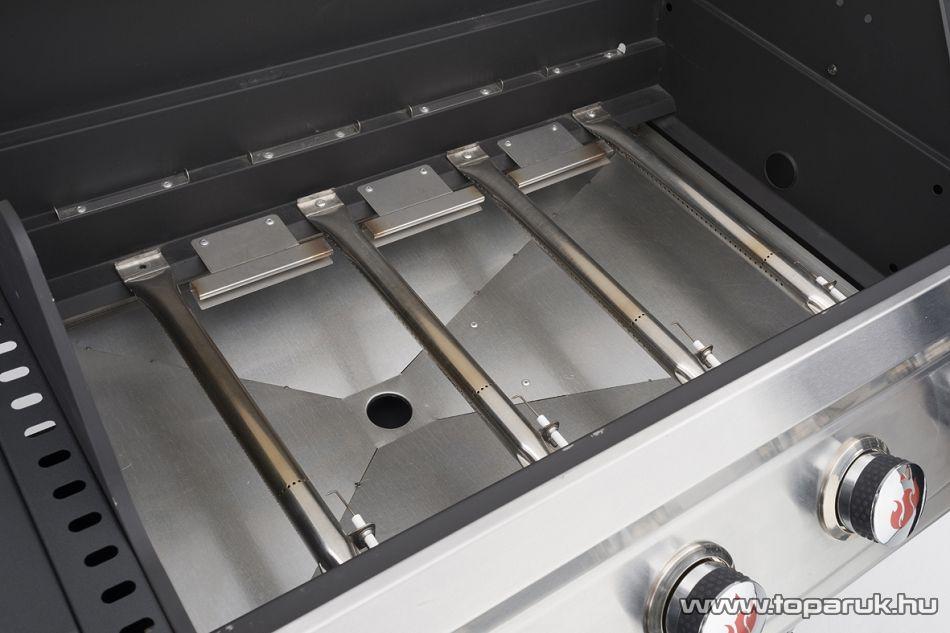 Landmann 12660 MITON PTS 4.1 Party gázgrillkocsi, 4 + 1 gázégővel (12 személyes)