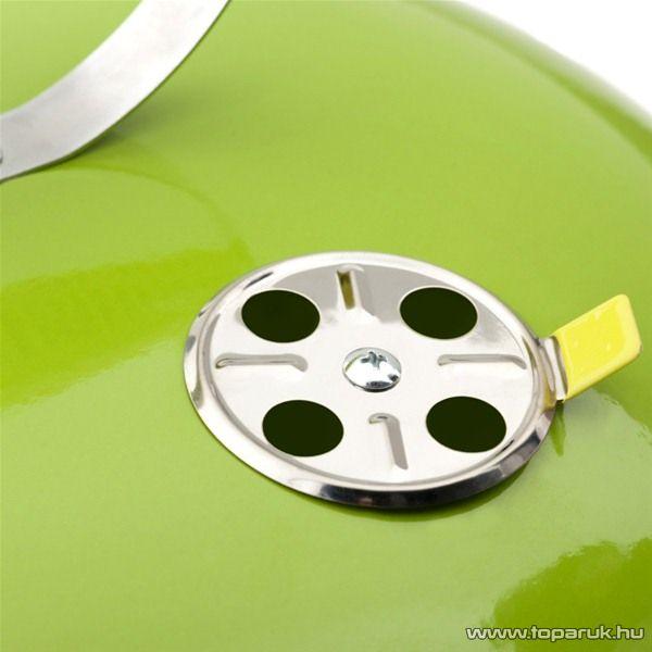 Landmann 31373 Piccolino faszenes asztali gömbgrill, zománcozott fedéllel és tűztérrel, zöld (4 személyes)