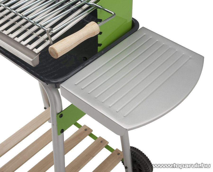 Landmann 31429 Feelgood Faszenes party grillkocsi, fa polccal, zöld színű (6 személyes)