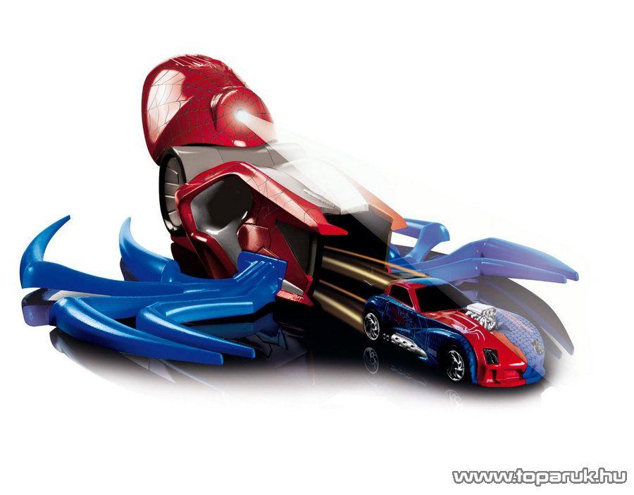 Majorette Spider-Man, Pókember pók formájú autó kilövő pálya autóval (213089715) - készlethiány