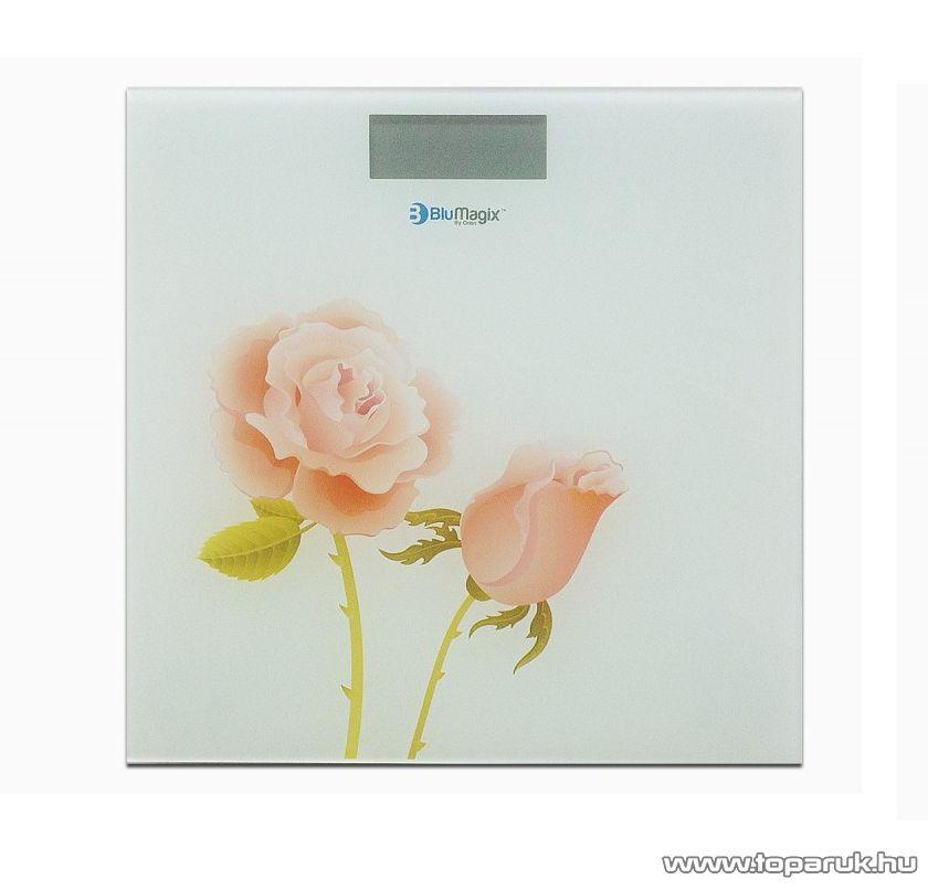 BluMagix BM-PSC2015 Személy szoba mérleg, rózsa mintával (max. 180 kg súlyig)