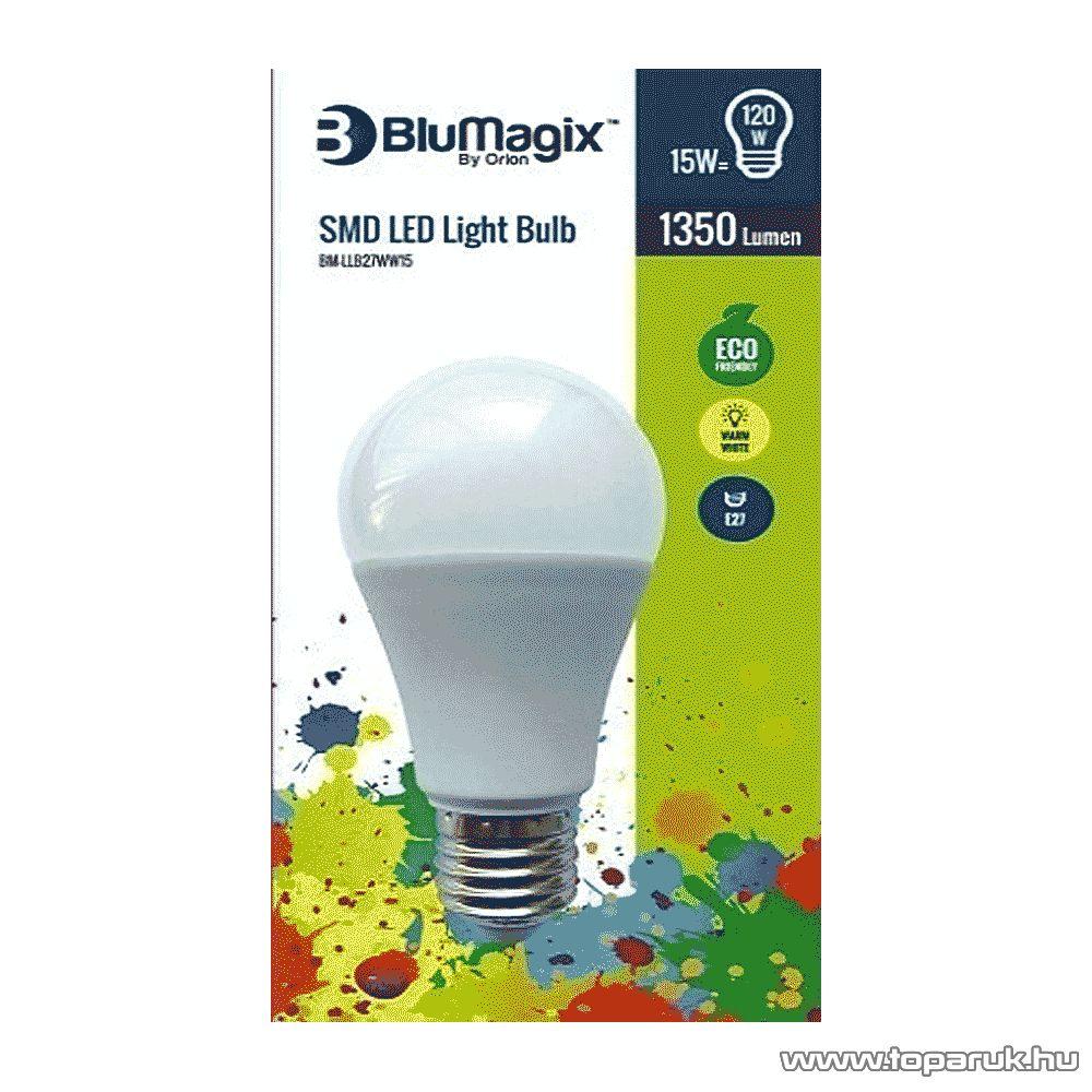 BluMagix BM-LLB27WW15 Energia takarékos SMD LED égő, 15W, E27 foglalat, meleg fehér