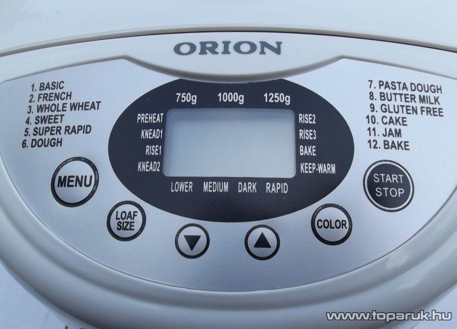 Orion OBMD-5401 1,3 kg-os kétlapátos kenyérsütő