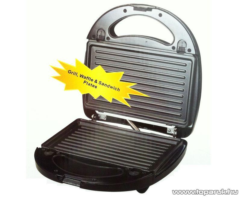Orion OWM-801 Inox 3 az 1-ben szendvicssütő + grill + gofrisütő - készlethiány