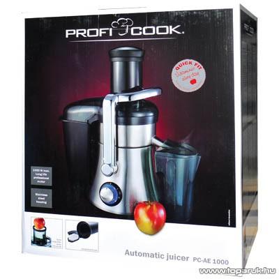 ProfiCook PC-AE1000 Professzionális inox gyümölcscentrifuga - Megszűnt termék: 2015. November