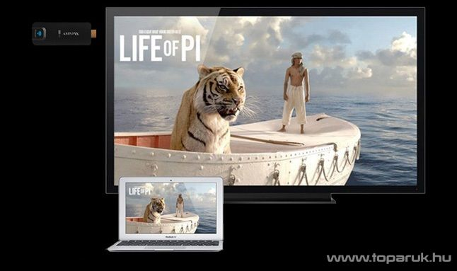 MEASY A2W II Miracast HDMI Smart TV stick, kihajtható antennás modell - megszűnt termék: 2015. október