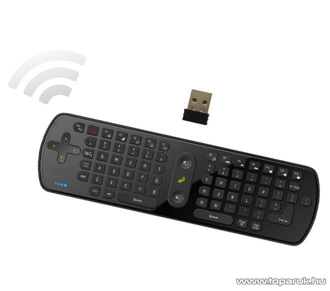 MEASY RC11 Air Mouse légegér és vezeték nélküli billentyűzet a Measy U4A+ HDMI Android Mini PC TV (okosító) stick-hez - megszűnt termék: 2015. november