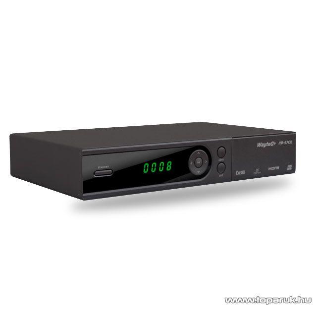 Wayteq HD-97CX Set Top Box DVB-T vevő és Médialejátszó egyben - megszűnt termék: 2016. január