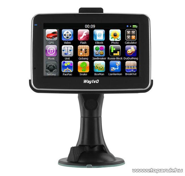 """WayteQ x880 Truck kamionos, teherautós 4.3""""-os GPS navigáció, 8GB + Sygic Truck Európa térkép (45 ország) - megszűnt termék: 2015. június"""