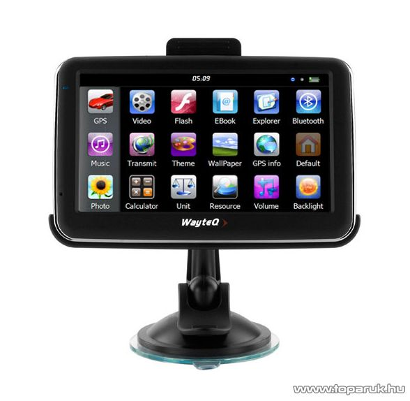 """WayteQ X980BT 5""""-os GPS navigáció, 8GB + 3D Sygic Truck Európa térkép (45 ország) - megszűnt termék: 2015. szeptember"""