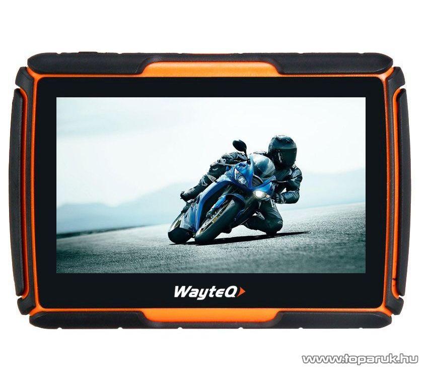 WayteQ xRIDER motoros GPS navigáció, 8 GB + Sygic 3D Teljes Európa térképszoftver