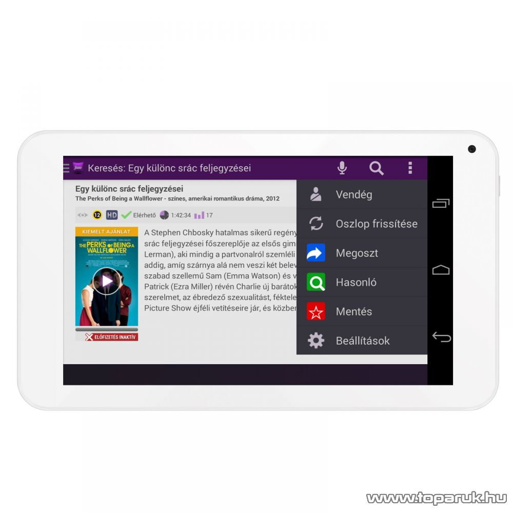 """WayteQ xTAB-7Q 7""""-os IPS tablet, 8GB, fehér (Android) - megszűnt termék: 2016. január"""