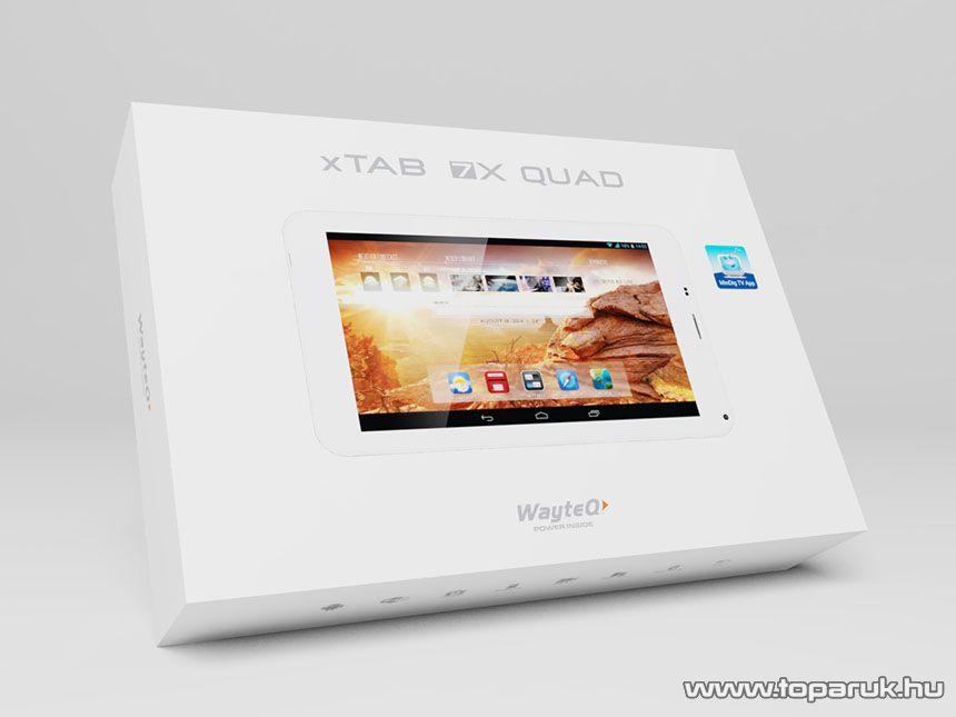 """Wayteq xTAB-7X Quad 7""""-os IPS tablet, 8GB, fehér (Android) + Sygic 3D Voucher Edition Teljes Európa szoftverrel - megszűnt termék: 2015. november"""