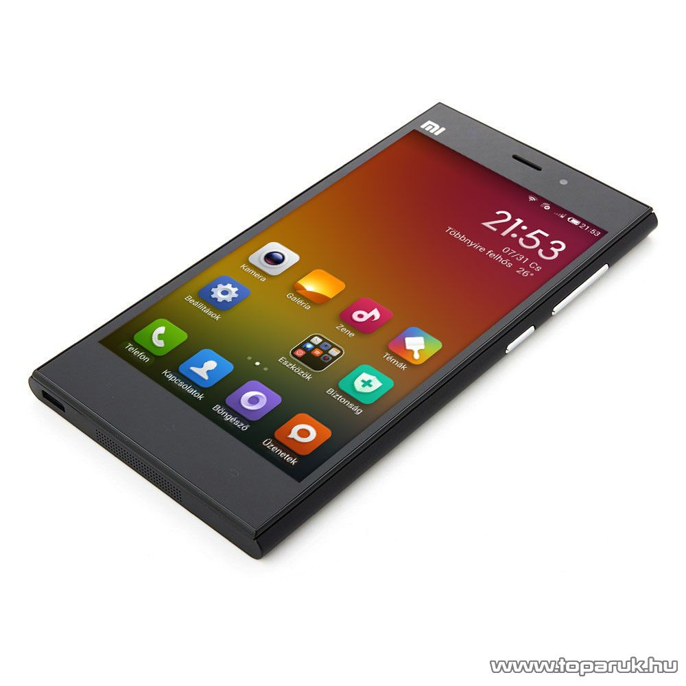 Xiaomi MI3 kártyafüggetlen okostelefon, fekete, 64 GB (Android) - megszűnt termék: 2015. október