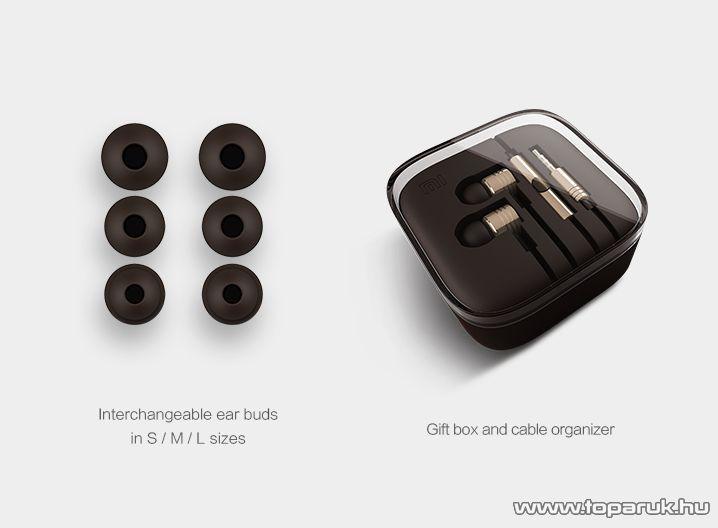 Xiaomi Piston prémium mikrofonos sztereó headset / fülhallgató, barna - megszűnt termék: 2016. március