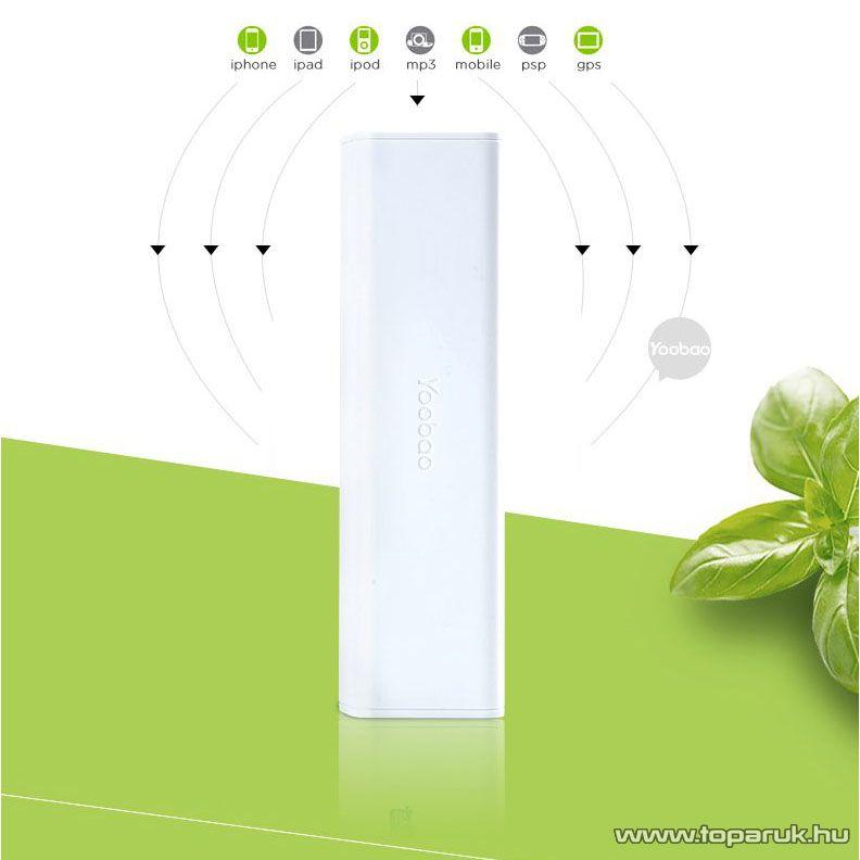 Yoobao Simple 10400 Power Bank külső akkumulátor, 10400 mAh kapacitás - készlethiány