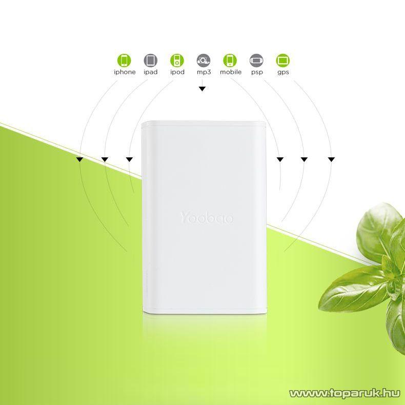 Yoobao Simple 7800 Power Bank külső akkumulátor, 7800 mAh kapacitás - megszűnt termék: 2016. november