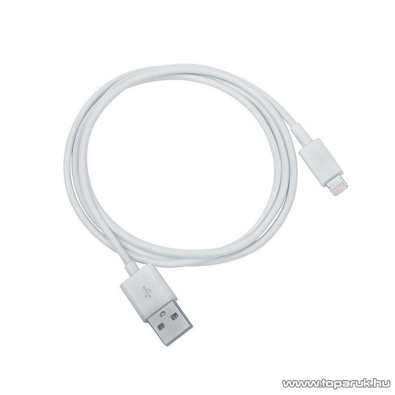 Yoobao USB adat és töltő kábel, Apple Lightning csatlakozóval, fehér