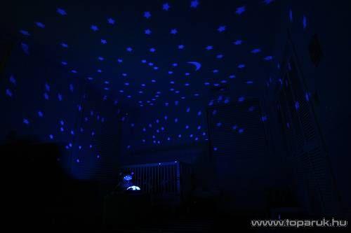 Csillagképek hangulatvilágítás, világító plüss teknős (barna)