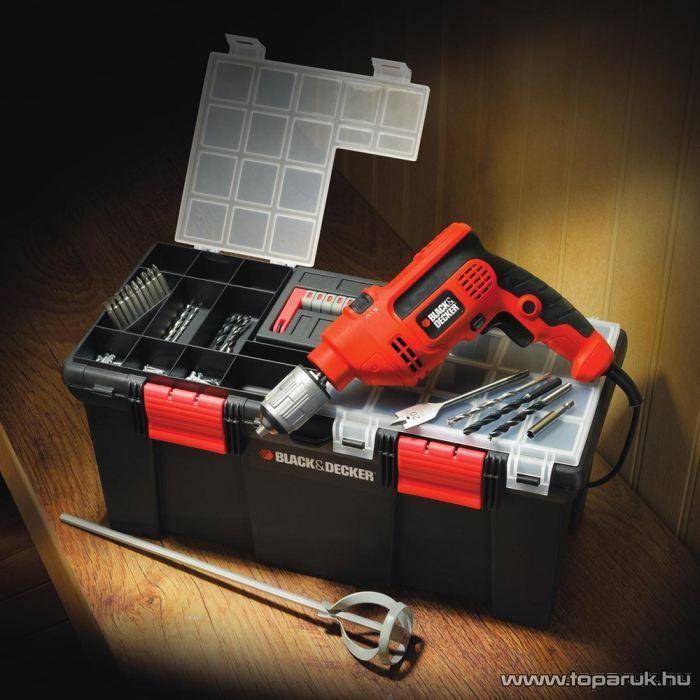 Black & Decker CD714CRT22A Ütvefúró szerszámos ládában, 40 tartozékkal - készlethiány