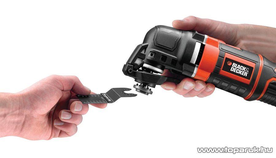 Black & Decker MT300KA Multifunkciós rezgőszerszám, szerszám nélküli befogással, tartozékokkal, kofferben
