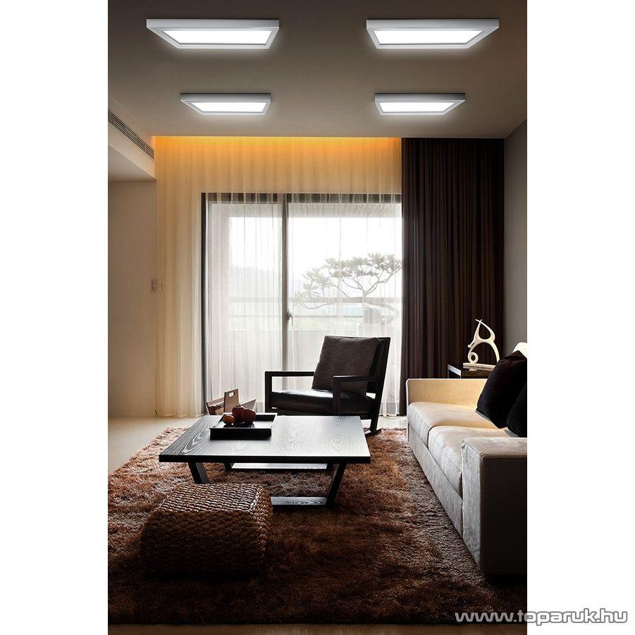 LED panel lámpa 40W, négyzet, fehér fényű világítással