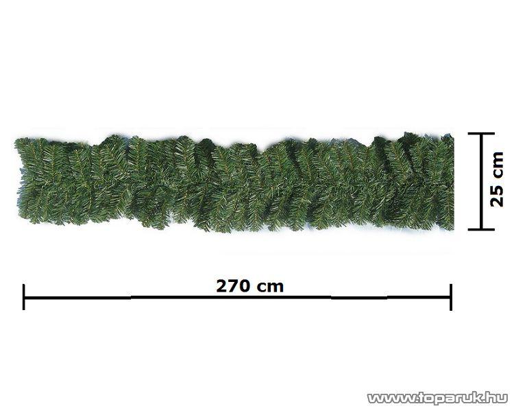 Kanadai fenyő girland toboz dekorációval, 270 cm x 25 cm - megszűnt termék: 2015. január