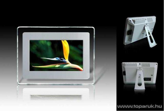 """Millenium 7"""" Digitális fehér képkeret, fotókeret - készlethiány"""